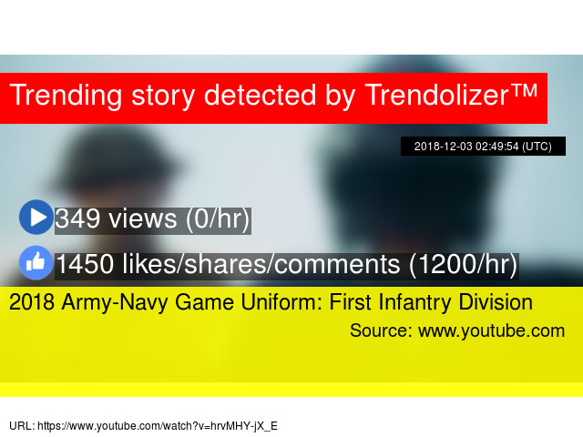 2018 Army-Navy Game Uniform  First Infantry Division fb684a78b