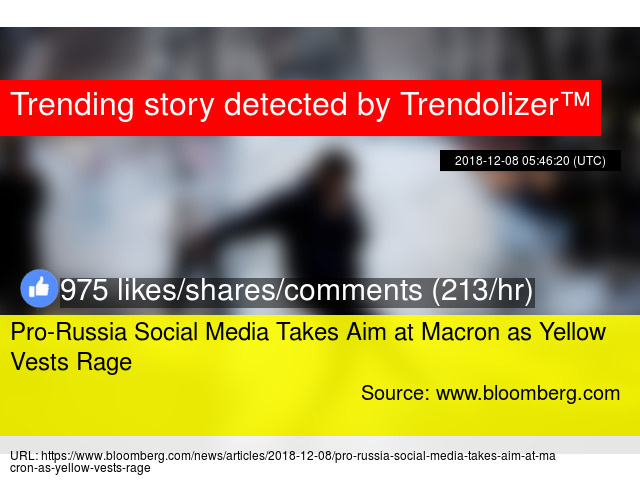 Pro-Russia Social Media Takes Aim at Macron as Yellow Vests Rage