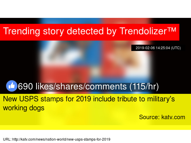 New USPS stamps for 2019 include tribute to military's working dogs