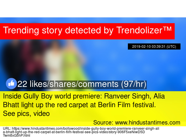 Inside Gully Boy world premiere: Ranveer Singh, Alia Bhatt