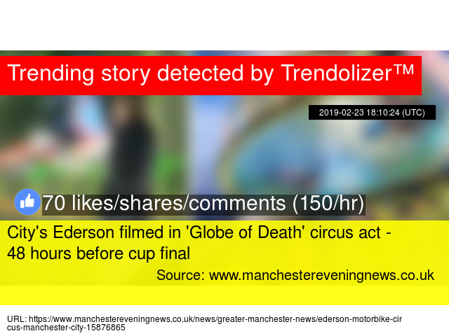 City's Ederson filmed in 'Globe of Death' circus act - 48