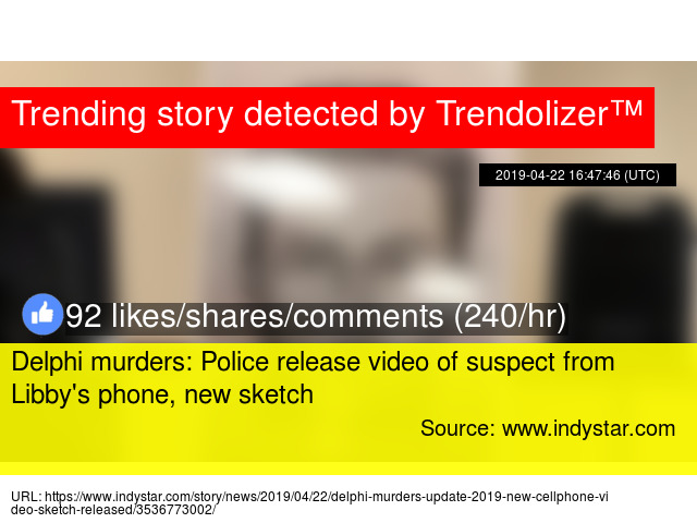 Delphi murders: Police release video of suspect from Libby's phone