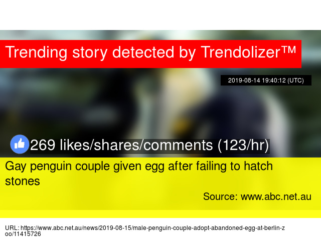 Gay penguin couple given egg after failing to hatch stones