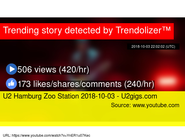 U2 Hamburg Zoo Station 2018 10 03 U2gigscom